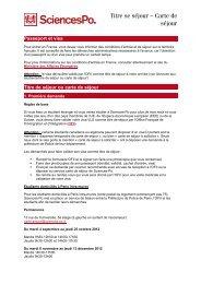 FLASH INFO CARTE DE SEJOUR - Sciences-Po International