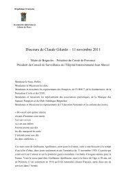 Discours du 11 novembre 2011