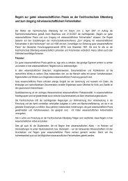Regeln zur guten wissenschaftlichen Praxis an der ... - Hks Ottersberg