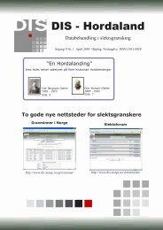Blad nr. 1 2005 For sjerm 270 kb (PDF) - DIS-Norge