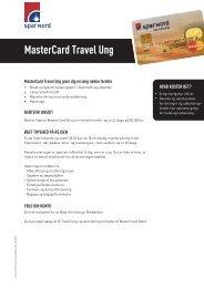 Spar Nord MasterCard Travel Ung (pdf)