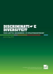 Jaarverslag Discriminatie/Diversiteit 2012 - Centrum voor gelijkheid ...
