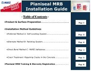 Planiseal MRB Installation Guide - AltaPaints and Coatings