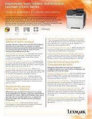 Imprimante laser couleur multifonction Lexmark CX410 Series