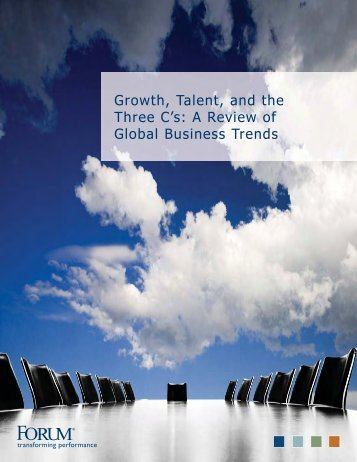 Growth, Talent, and the Three C's: A Review of Global Business ...