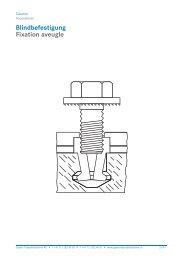 3.00 Blindbefestigung (pdf) - Gasser Fassadentechnik AG