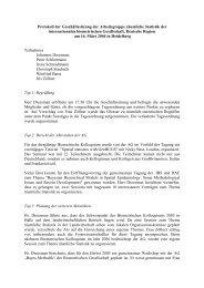 Protokoll der Geschäftssitzung der Arbeitsgruppe räumliche Statistik ...