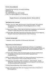 Betreute Habilitationen, Dissertationen und Abschlussarbeiten