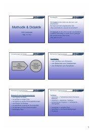 Methodik & Didaktik