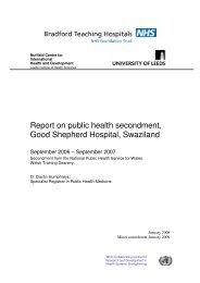Report on public health secondment, Good Shepherd Hospital ...
