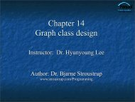 Graphics Class Design - TAMU Computer Science Faculty Pages