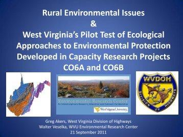 Rural Environmental Issues - West Virginia Department of ...