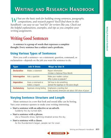 Writing and Research Handbook - McGraw-Hill Higher Education