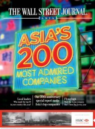 Asia's 200 most admired companies - Wall Street Journal Asia