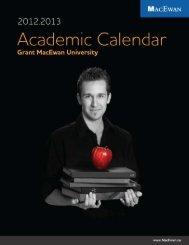 Academic Calendar 2012/2013