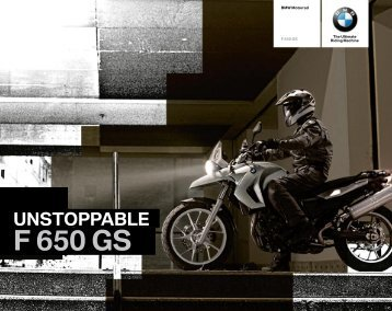Unstoppable f 650 Gs - BMW Motorrad UK.