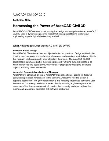 Harnessing the Power of AutoCAD Civil 3D - Cad.amsystems.com