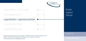 und Jugendarbeit / Jugendsozialarbeit - Orbit-jena.de