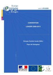 Télécharger la convention LEADER - Pays de Guingamp