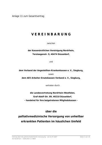 Palliativ Vertrag Mit Den Ersatzkassen Pdf 210 Kb