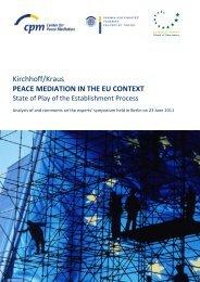 Kirchhoff/Kraus PEACE MEDIATION IN THE EU CONTEXT