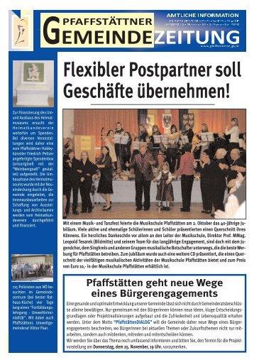 Gemeindezeitung November 2010 - Pfaffstätten