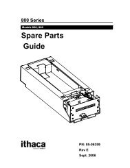 Series 800 Spare Parts Guide - TransAct