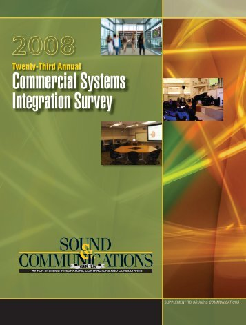 Sound & Communications Commercial Systems Integration Survey ...