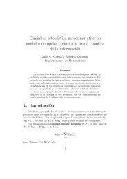 Dinámica estocástica no conmutativa en modelos de ... - CBI - UAM