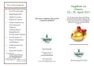 Angebote zu Ostern 22.– 25. April 2011 - - Hotel Pasewalk
