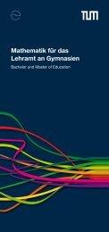 Mathematik für das Lehramt an Gymnasien - Didaktik der Mathematik