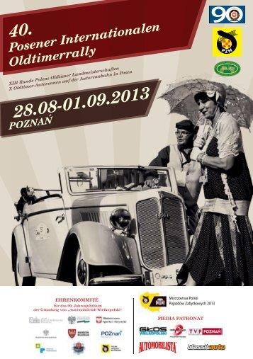 40. Posener Internationalen Oldtimerrally - Automobilklub Wielkopolski