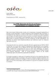 Les PME déposantes de brevets en France ... - Bpifrance
