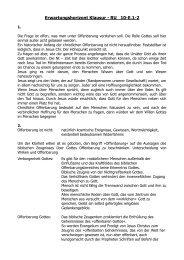 Erwartungshorizont Klausur - RU 10-E.1-2