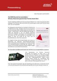 Wireless Netcontrol gewinnt Best Practice Award 2011