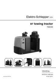 Elektro-Schlepper 3,0 t BT towing tractor - Toyota Material Handling ...