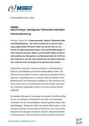 IAA-Prototyp: Intelligenter Fahrersitz erleichtert ... - Motec