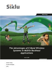 The Advantages of E-Band Wireless Systems in Mobile ... - NetSuite
