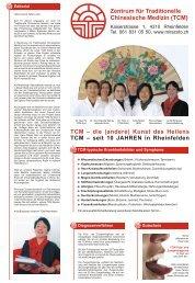Zentrum für Traditionelle Chinesische Medizin (TCM)