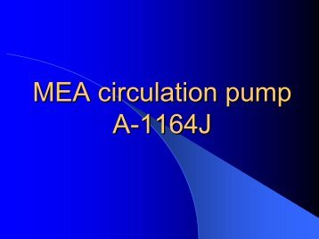 MEA circulation pump - ReliabilityWeb.com