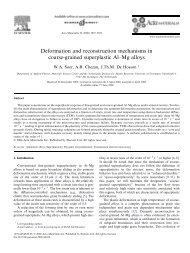 Deformation and reconstruction mechanisms in coarse-grained ...