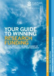 your Guide to winninG research FundinG - My.Anglia Homepage ...