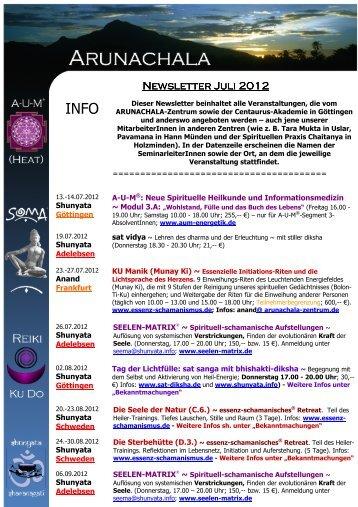 Arunachala - Newsletter Juli 2012 - SOMA-Work.de