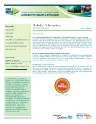 Bulletin No 1 - Tourisme Québec