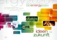 nachhaltig sinnvolle Entwicklung - Bioenergy 2020+