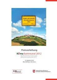Preisverleihung - KuK Klimawandel und Kommunen