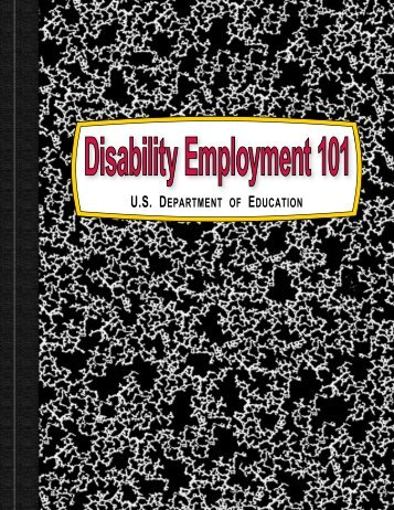 Disability Employment 101 (PDF) - Indiana's Transition Initiative
