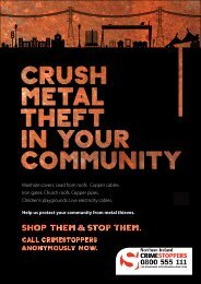 Crimestoppers booklet & poster - Northern Ireland Electricity