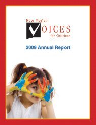 Letter from the Executive Director - New Mexico Voices for Children
