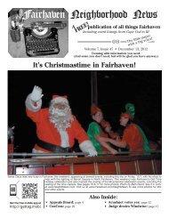 Christmas Concert - Fairhaven Neighborhood News
